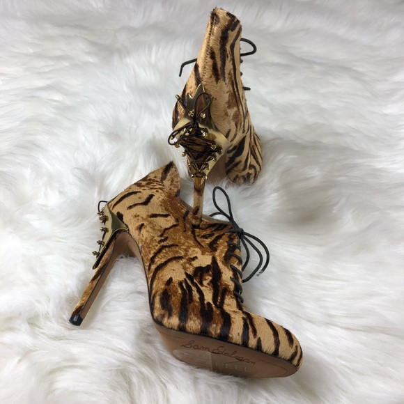 b0112def46c7fb Rare Sam Edelman Elsa calf skin tiger booties